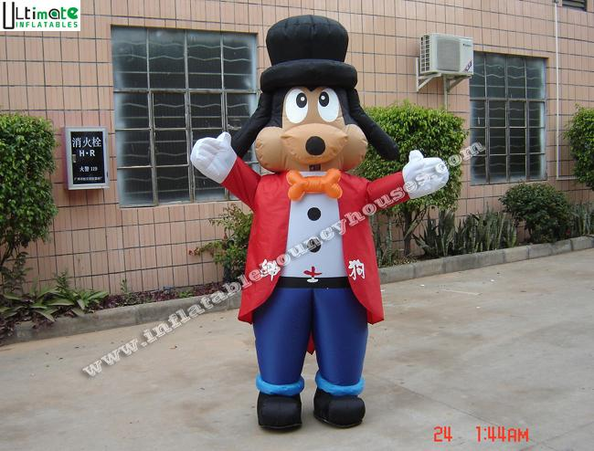 Promotion OEM Cartoon Gentle Dog Advertising Inflatables For Events