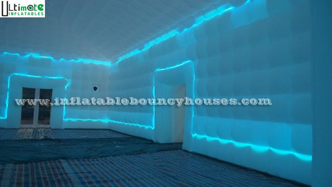 LED Tube Light Giant Inflatable Cube Tent With EN14960 Certified From China Factory