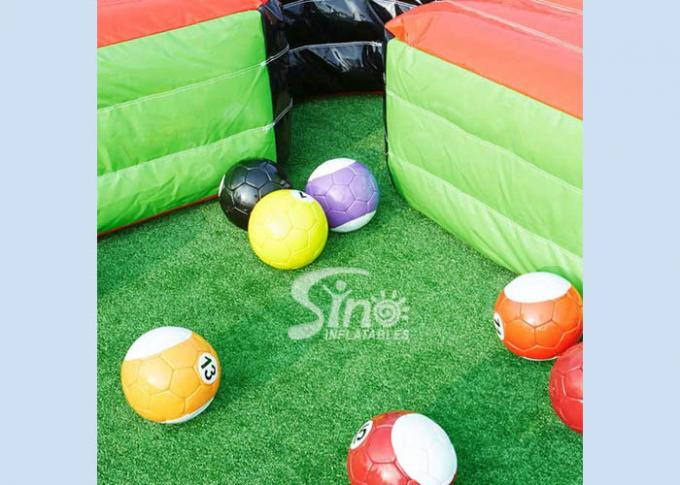 Giant Human Inflatable Snooker Pool Table With Snooker Balls For Snooker Football Entertainment