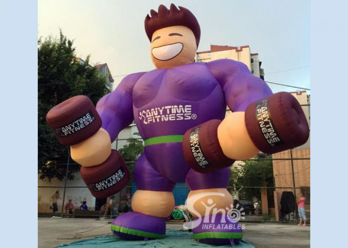 Outdoor 16' high giant anytime fitness inflatable muscle man for fitness clubs or GYM outdoor promotion