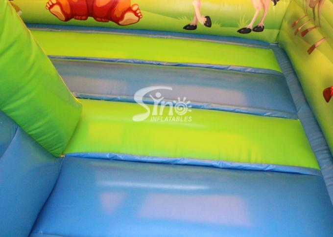Inflatable Cartoon Bounce House Jumping Castle With Slide For Inflatable Games