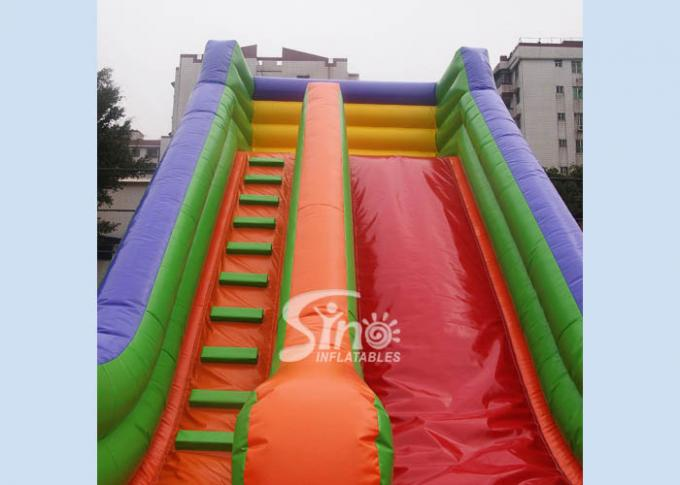Outdoor 19'' High Rainbow Kids Inflatable Slide With Front Load Stopper For Parties
