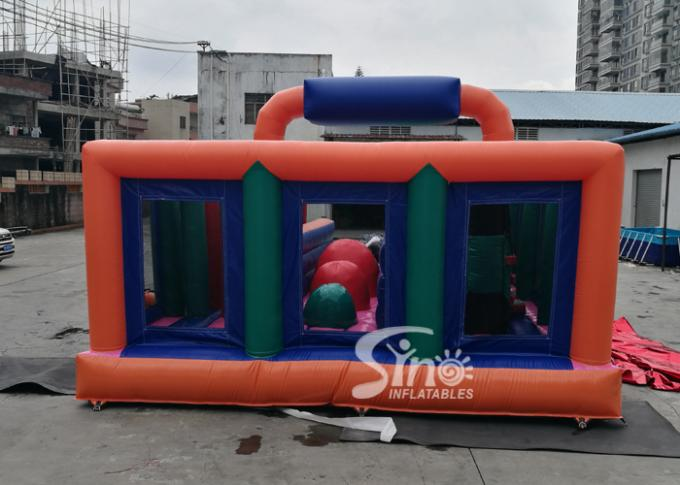 Giant Fun Adults Jumping Inflatable Obstacle Course For Challenge Run Party