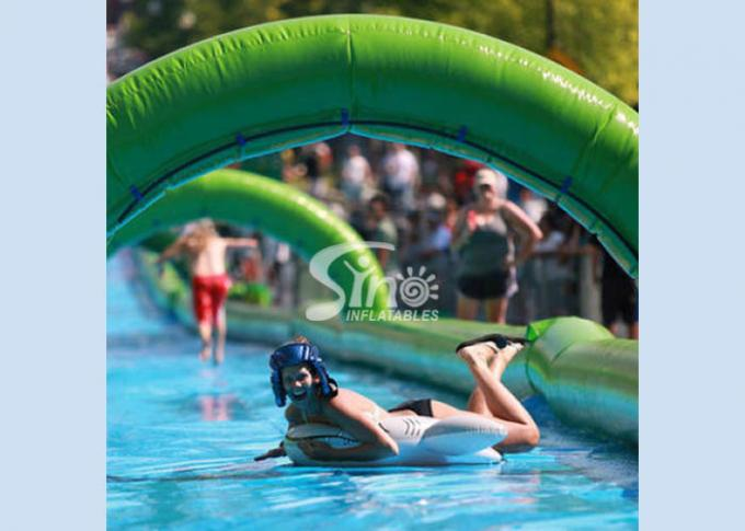 Custom made outdoor giant inflatable the city water slide for summer water game fun from Sino Inflatables