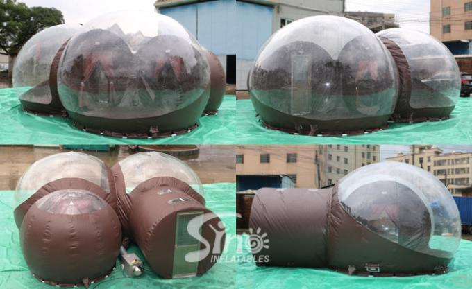 4m Dome Clear Top Resort Glamping Bubble Hotel With Steel Frame Tunnel N Aluminium Door From Inflatable Factory 0