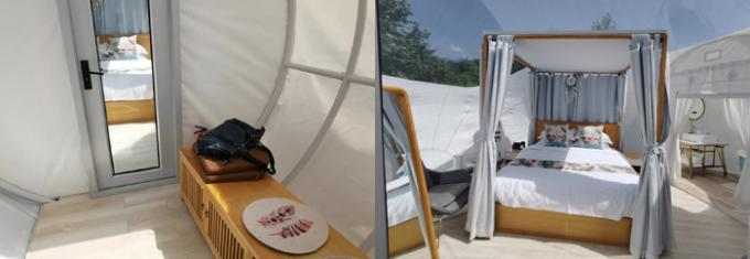 Romantic Glamping 2 Rooms Inflatable Bubble Tent Hotel With bath Room And Lock Doors from Sino Inflatables 0