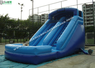 China 17 Feet Blue Large Commercial Inflatable Water Slides For Kids Party supplier