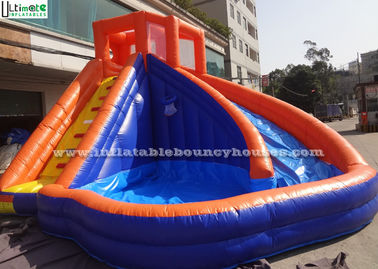 China Backyard Kids Banzai Inflatable Pool Water Slides Made Of Lead Free PVC Tarpaulin supplier