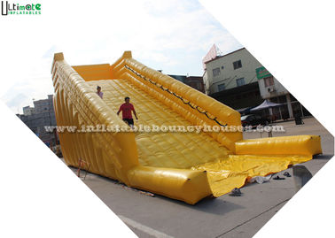 Yellow Inflatable Zorb Balls Ramp For Grass Ball Or Roller 8m