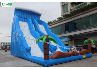 12m High Commercial Inflatable Water Slides For Adult / Big Blue Water Slide