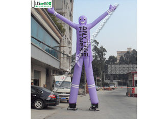 China Purple Inflatable Advertising Man Double N Quadruple Stitching supplier