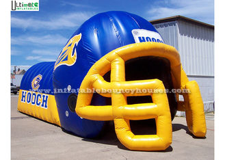 Giant Commercial Inflatable Games Rugby Inflatable Helmet Tunnel For Children