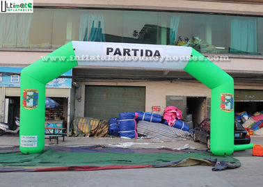 Commercial Inflatable Start Finish Arch Fireproof Durable Custom Logo