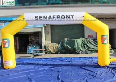 Custom Made Yellow Inflatable Arches EN71 For Outdoor Advertising