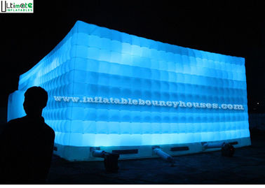 China Commercial Air Inflatable Tents , Advertising LED Light Inflatable Party Tent supplier