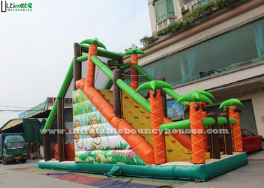 Kids Inflatable Obstacle Sport Mega Run Jungle Basejump Fireproof