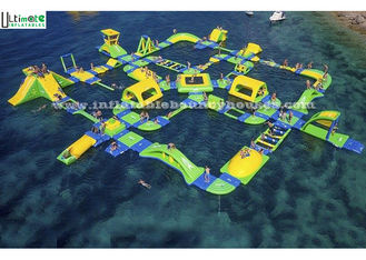 China Outdoor Inflatable Water Slide Toy Giant Floating For Water Park supplier