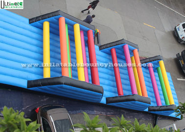 Crawl Racing Inflatable Games 0.5mm PVC Tarpaulin Inflatable Obstacle