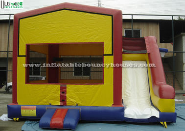 China PVC Tarpaulin Inflatable Bounce Houses With Slide Multifunctional supplier