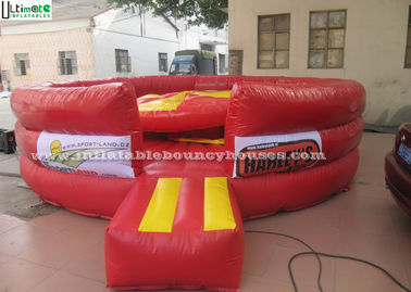 Round Inflatable Games , Adults Inflatable Jousting Arena With Joust Poles
