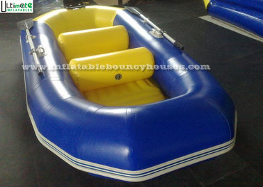 China Water Adventure Race Inflatable Rafts Inflatable Fishing Boats Yellow / Blue supplier