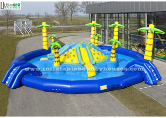 Giant Inflatable Jungle Island Water Park Lead Free Pvc Tarpaulin