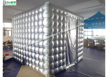 China Silver Cube Inflatable Photobooth Double N Quadruple Stitching supplier