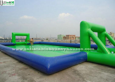 12m Green Soap Inflatable Football Pitch Hire Kids N Adults Outdoor Sport