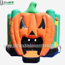 China Halloween Inflatables Giant Pumpkin Kids Bounce House Double / Quadruple Stitching supplier