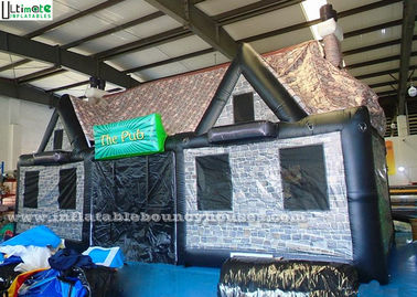 China Durable Portable Air Inflatable Tents / Pub House Lead Free Pvc Tarpaulin supplier