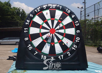 China 3m high 3in1 giant inflatable golf dart board with support base for kids N adults from golf dart game factory supplier