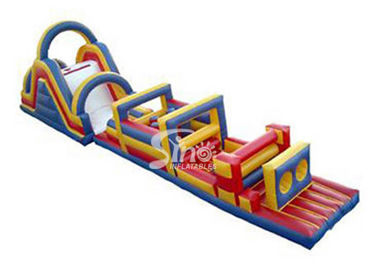 China Giant outdoor kids inflatable interactive game with slide on sale supplier