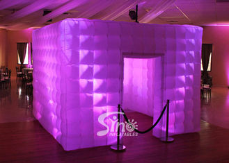 China 4x4m tube LED light inflatable photo booth for parties n film events supplier