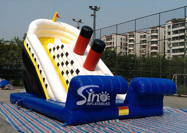 Outdoor adventure huge titanic inflatable slide for kids playground