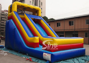 Outdoor 17' high front load kids inflatable dry slide with stoper in the end