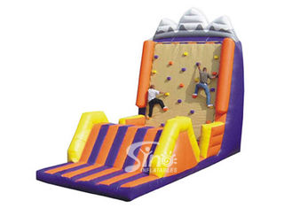 Customized commercial giant inflatable climbing rock wall for entertainment
