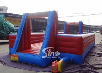 Kids entertainment inflatable soap soccer field with double layer floor