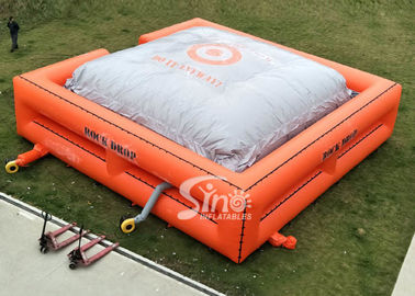 China Custom size outdoor big inflatable jump air bag for BMX stunt challenge supplier