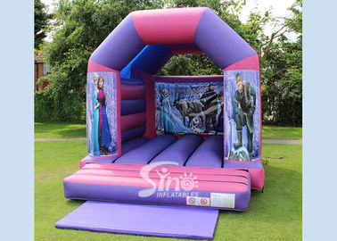 China OEM ODM Purple Kids Frozen Bouncy Castle Made Of 0.55MM PVC Tarpaulin supplier