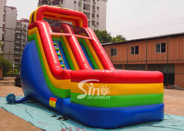 Colorful Outdoor Kids Biservice Wet N dry Commercial Inflatable Slides For commercial used