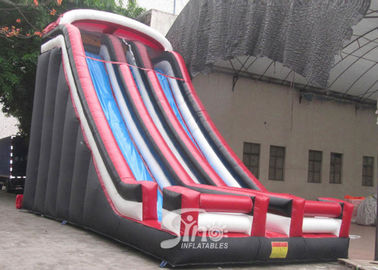 China 25 ft high commercial grade giant adults inflatable double lane slide made with 18 OZ PVC Tarpaulin supplier
