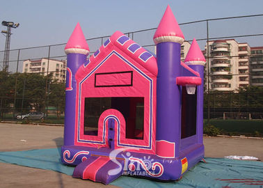 China 3In1 High Tear Strength Pink Inflatable Jump House with basket hoop for School Lobbies supplier