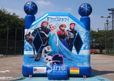 China Commercial Grade Kids Frozen Inflatable Bounce Houses With Pillars inside Obstacles For Parties supplier
