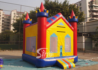 China 13x13 kids dream water proof inflatable bounce house with obstacle N basketball hoop inside supplier