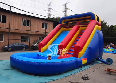 Lead free backyard kids inflatable water slide with pool from Sino Inflatables