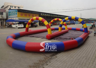 Outdoor karts N zorb balls inflatable race track for sporting events