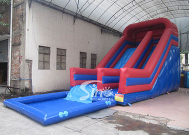 China Kids Parties Commercial Inflatable Pool Slides with 0.55mm pvc tarpaulin material from Sino Inflatables supplier