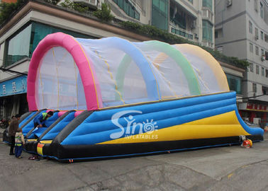 China Commercial grade ramp shape outdoor adults inflatable obstacle slide on sale from Sino Inflatables supplier
