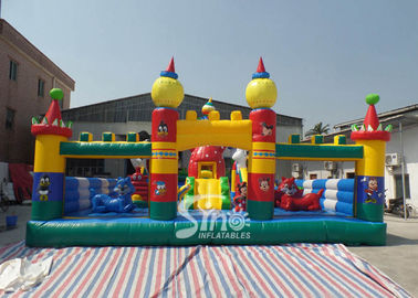 China Tom and Jerry outdoor kids inflatable playground made of 0.55mm pvc tarpaulin material for kids inflatable fun city supplier