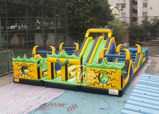 Adults N kids outdoor giant theme park inflatable playground with big slides for sale